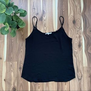 VIOLET + CLAIRE | black chiffon tank top small